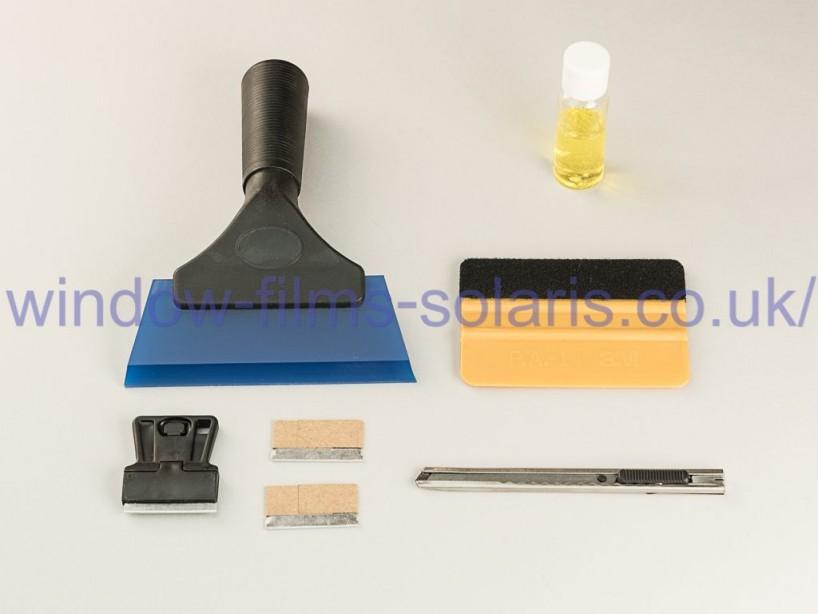 Free Tool kit for flat glass window film installation